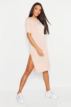 Boohoo Womens Split Midi T-Shirt Dress - - 8