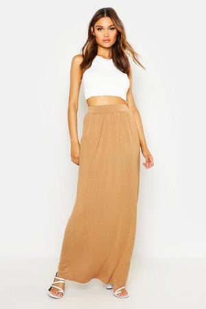 Boohoo Womens Basic Pocket Front Jersey Maxi Skirt - - 8