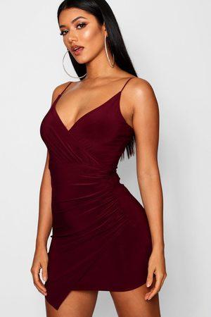 Boohoo Women Bodycon Dresses - Womens Wrap Detail Bodycon Dress - - 4
