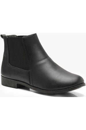 Boohoo Womens Wide Fit Flat Chelsea Boots - - 5