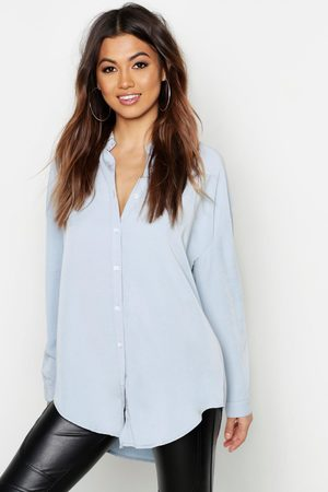 Boohoo Womens Oversized Soft Touch Denim Shirt - - 2