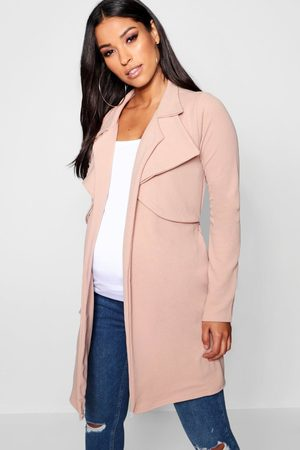 Boohoo Womens Maternity Double Breasted Duster Jacket - - 4