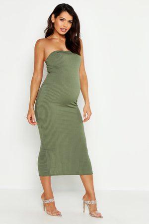 Boohoo Womens Maternity Bandeau Midaxi Dress - - 6