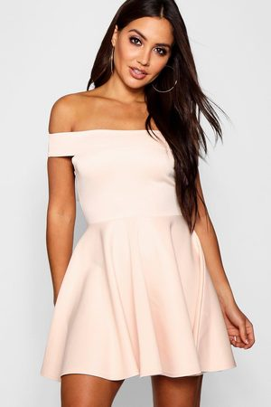 Boohoo Womens Off The Shoulder Skater Dress - - 2