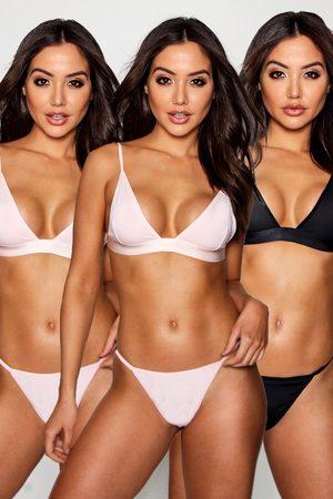 Boohoo Womens 3 Pack Triangle Bralet - - S