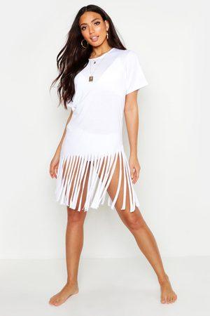 Boohoo Womens Tassel Beach Dress - - S