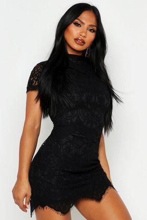 Boohoo Womens Boutique Eyelash Lace Bodycon Dress - - 2