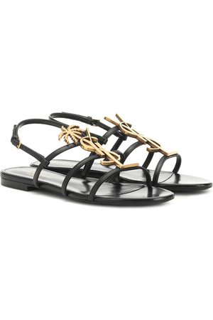 Saint Laurent Women Sandals - Cassandra 05 leather sandals