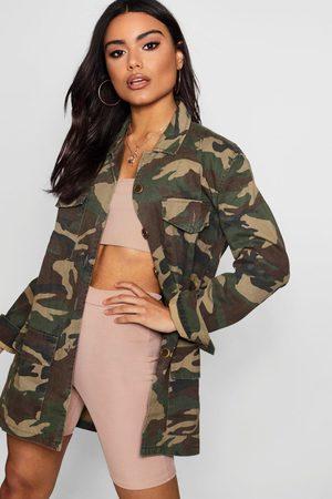Boohoo Womens Camo Jacket - - S