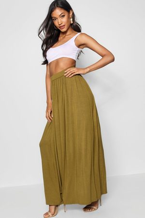 Boohoo Womens Basic Floor Sweeping Jersey Maxi Skirt - - 2