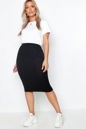 Boohoo Womens Plus Midi Tube Skirt - - 12