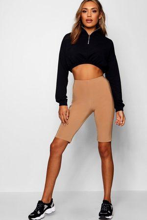 Boohoo Womens Double Layer High Waist Biker Shorts - - 2