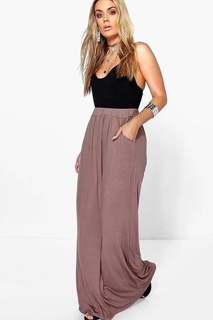Boohoo Womens Plus Pocket Front Jersey Maxi Skirt - - 22