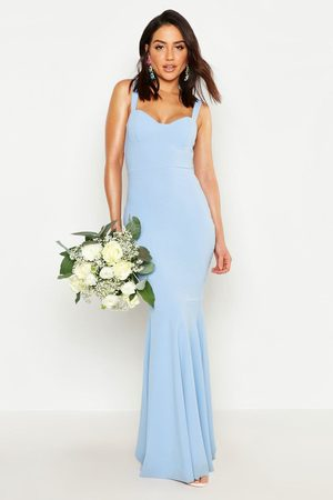Boohoo Womens Fitted Fishtail Maxi Bridesmaid Dress - - 4