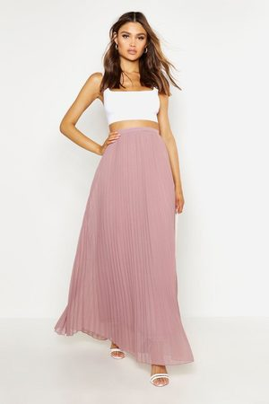 Boohoo Womens Chiffon Pleated Maxi Skirt - - 2