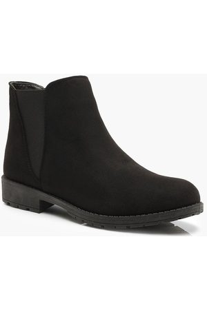 Boohoo Womens Chunky Cleated Chelsea Boots - - 5