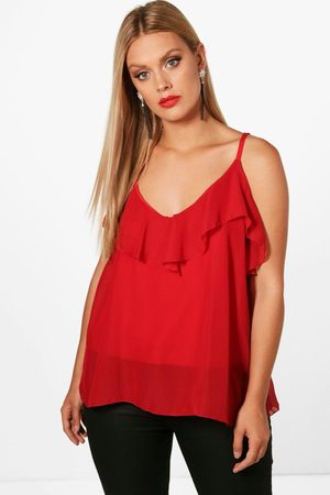 Boohoo Womens Plus Ruffle Detail Swing Cami - - 12