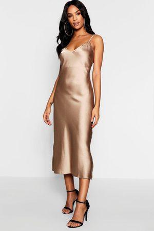 Boohoo Women Casual Dresses - Womens Tall Satin Slip Dress - - 6