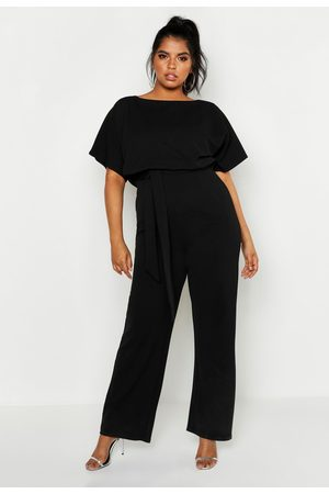 Boohoo Womens Plus Double Layer Jumpsuit - - 12
