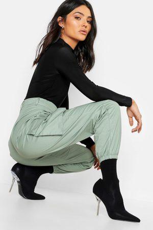Boohoo Womens Woven Pocket Cargo Pants - - 2