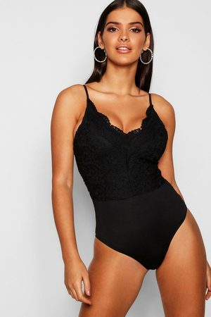Boohoo Womens Premium Lace one piece - - S