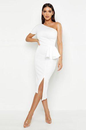 Boohoo Women Bodycon Dresses - Womens One Shoulder Split Midi Dress - - 2