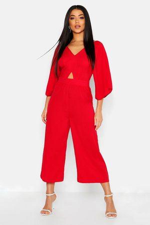 Boohoo Womens Kimono Sleeve Culotte Jumpsuit - - 2
