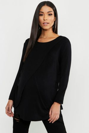 Boohoo Womens Maternity Long Sleeved Nursing Top - - 6