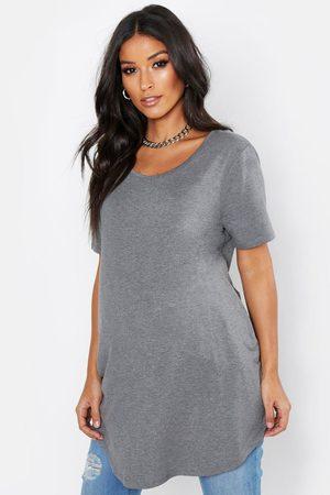Boohoo Womens Maternity Oversized Basic T-Shirt - - 4