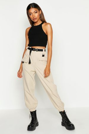 Boohoo Womens Cargo Belted Pants - - 4