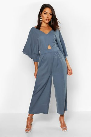 Boohoo Womens Kimono Sleeve Culotte Jumpsuit - - 4