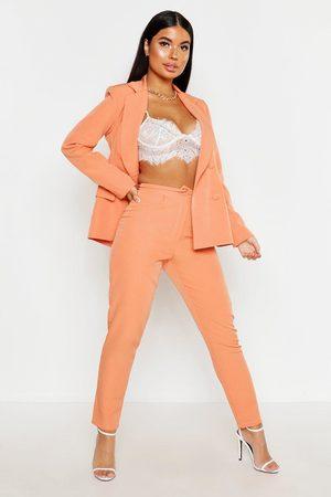 Boohoo Womens Petite Button Tailored Pants - - 2