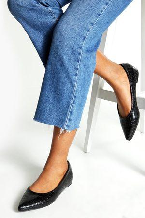 Boohoo Womens Pointed Toe Ballet Flats - - 5