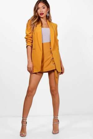 Boohoo Womens Ruched Sleeve Blazer - - S