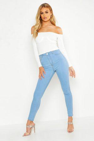 Boohoo Womens High Rise Skinny Jean - - 2