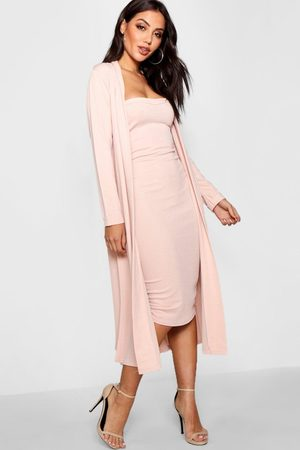 Boohoo Womens Bandeau Dress & Duster Two-Piece Set - - 4