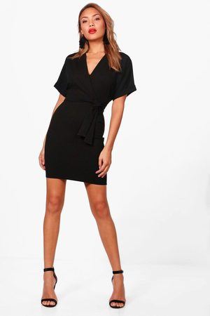 Boohoo Women Bodycon Dresses - Womens Wrap Over Belted Dress - - 4
