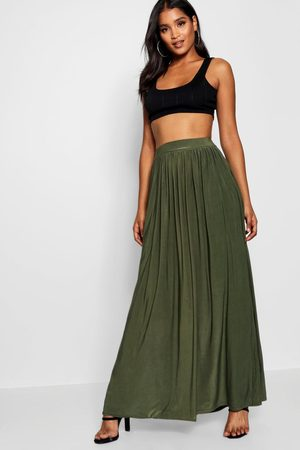 Boohoo Womens Basic Slinky Floor Sweeping Maxi Skirt - - 2