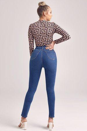 Boohoo Womens Super High Waist Power Stretch Skinny Jeans - - 2