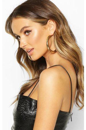 Boohoo Womens Chunky Tube Hoop Earrings - - One Size