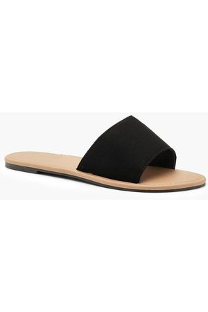 Boohoo Womens Basic Sliders - - 5