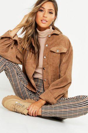 Boohoo Womens Oversize Cord Jacket - - 2