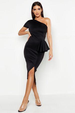 Boohoo Womens One Shoulder Split Midi Dress - - 4