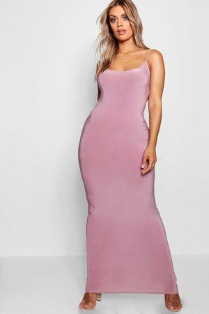 Boohoo Womens Plus Slinky Strappy Maxi Dress - - 12
