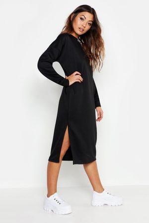 Boohoo Womens Split Midi Sweat Dress - - 4