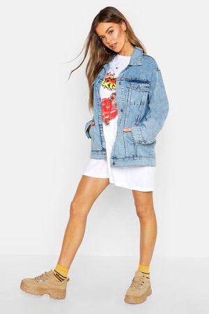 Boohoo Womens Oversized Jean Jacket - - 2