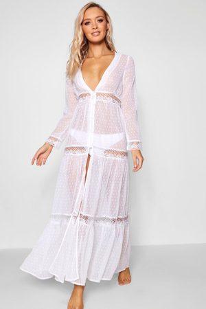 Boohoo Women Beach Dresses - Womens Boho Lace Beach Dress - - S