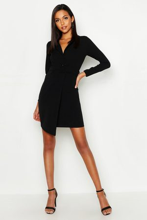 Boohoo Womens Tall Self Fabric Belted Blazer Dress - - 4