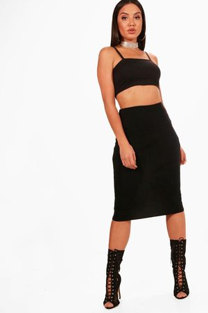 Boohoo Womens Basic Midi Jersey Tube Skirt - - 4