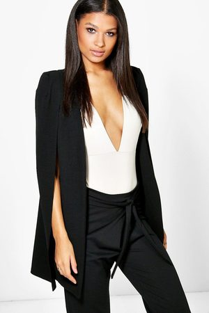 Boohoo Womens Longline Tailored Crepe Cape - - 2